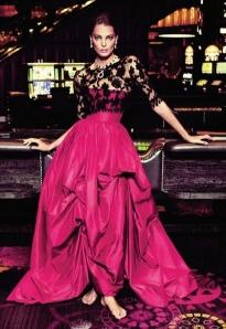 valentine pink black